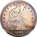 Proof Seated Dollars, 1864 $1 PR62 NGC....