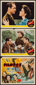 """Movie Posters:War, Pilot #5 (MGM, 1942). Title Lobby Card & Lobby Cards (2) (11"""" X14""""). War.. ... (Total: 3 Items)"""