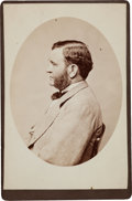Photography:Cabinet Photos, Ulysses S. Grant Cabinet Card and Frederick Grant Typed LetterSigned.... (Total: 2 Items)