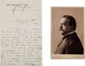 Autographs:Military Figures, General Daniel E. Sickles War-Date Autograph Letter Signed with Cabinet Card. ... (Total: 2 )
