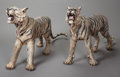Bronze:European, A PAIR OF LARGE AUSTRIAN COLD PAINTED BRONZE TIGERS, first quarter 20th century. 24 x 50 x 9 inches (61.0 x 127 x 22.9 cm). ... (Total: 2 Items)