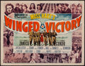 """Movie Posters:War, Winged Victory (20th Century Fox, 1944). Trimmed Half Sheet (21.5""""X 27.75""""). War.. ..."""
