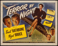 "Movie Posters:Mystery, Terror by Night (Universal, 1946). Half Sheet (22"" X 28"").Mystery.. ..."
