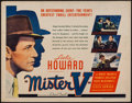 "Movie Posters:Adventure, Mister V (United Artists, 1942). Half Sheet (22"" X 28"") Style B.Adventure.. ..."
