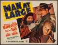 """Movie Posters:Mystery, Man at Large (20th Century Fox, 1941). Half Sheet (22"""" X 28"""").Mystery.. ..."""