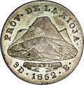 Argentina: , Argentina: La Rioja. 4 Reales 1852-B, KM21, AU50 NGC, nicely struckwith attractive silver and gray patina. Very rare grade for thison...