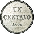 Argentina: , Argentina: Republic Aluminum Pattern Centavo 1892 Pair, KM-Pn29,Proof 61 NGC and KM-P2 Piefort, Proof 62 NGC. Obverse: Coat ofArms; R... (Total: 2 Coins Item)