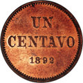 Argentina: , Argentina: Republic Copper Pattern Centavo 1892 Pair, KM-Pn31,Proof 61 Red NGC, and KM-P4 Piefort, Proof 63 NGC Red & Brown.Reverse w... (Total: 2 Coins Item)