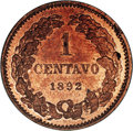 Argentina: , Argentina: Republic Copper Pattern Centavo 1892 Pair, KM-Pn32,Proof 63 NGC Red & Brown and KM-P5 Piefort, Proof 62 NGC Red& Brown. Re... (Total: 2 coins Item)