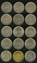 Argentina: , Argentina: Republic 10 Centavos Date Run, KM35, fifteen differentdates as follows: 1896, choice lustrous XF-AU, boldly struck and asc... (Total: 15 coins Item)