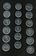 Argentina: , Argentina: Republic Assortment of Modern Types, eighteen coins, allbrilliant UNC except as noted, KM39 50 Centavos 1941, KM49 50Centa... (Total: 18 coins Item)