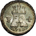 Bolivia: , Bolivia: Carlos IIII 1/4 Real 1799, KM82, MS66 NGC, another gorgeous example with full blazing mint luster and light, original toning...