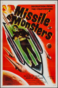 """Movie Posters:Science Fiction, Missile Monsters (Republic, 1958). One Sheet (27"""" X 41"""") FlatFolded. Science Fiction.. ..."""
