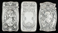 Silver Smalls:Match Safes, THREE AMERICAN SILVER MATCH SAFES, Gorham Manufacturing Co.,Providence, Rhode Island, circa 1912. Marks: (lion-anchor-G), ...(Total: 3 Items)