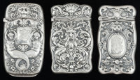THREE AMERICAN SILVER MATCH SAFES, Gorham Manufacturing Co., Providence, Rhode Island, circa 1916 Marks: (lion-anc