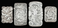 Silver Smalls:Match Safes, FOUR AMERICAN SILVER MATCH SAFES, Gorham Manufacturing Co.,Providence, Rhode Island, circa 1891. Marks: (lion-anchor-G),... (Total: 4 Items)