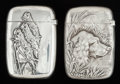 Silver Smalls:Match Safes, TWO AMERICAN SILVER MATCH SAFES, Gorham Manufacturing Co.,Providence, Rhode Island, circa 1888. Marks: (lion-anchor-G),S... (Total: 2 Items)