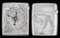 Silver Smalls:Match Safes, TWO AMERICAN SILVER MATCH SAFES, Gorham Manufacturing Co.,Providence, Rhode Island, circa 1904. Marks: (lion-anchor-G),S... (Total: 2 Items)
