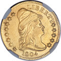 Early Quarter Eagles, 1804 $2 1/2 14 Star Reverse -- Mount Removed -- NGC Details. AU.BD-2, R.4....