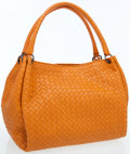 Luxury Accessories:Bags, Bottega Veneta Orange Intrecciato Nappa Leather Parachute Bag withGunmetal Hardware. ...