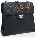Luxury Accessories:Bags, Chanel Rare Black Quilted Lambskin Leather Reversible DoubleOpening Flap Bag. ...