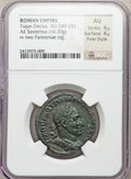 Ancients:Roman Imperial, Ancients: Trajan Decius (AD 249-251). Æ sestertius (16.20 gm)....