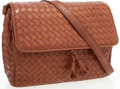 Luxury Accessories:Bags, Bottega Veneta Brown Intrecciato Nappa Leather Messenger Bag. ...