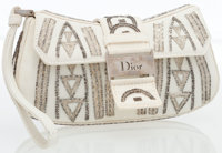 Christian Dior Limited Edition White Beaded Canvas Wristlet