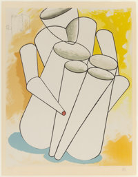 MAN RAY (American, 1890-1976) Personage Color lithograph 25-1/2 x 19-3/4 inches (64.8 x 50.2 cm)