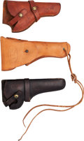 Arms Accessories:Holsters, Lot of Three Hand Gun Holsters.... (Total: 3 Items)