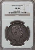 Coins of Hawaii: , 1883 $1 Hawaii Dollar AU55 NGC. NGC Census: (53/108). PCGSPopulation (45/125). Mintage: 500,000. ...