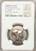 Ancients:Greek, Ancients: PAMPHYLIA. Side. Ca. 205-100 BC. AR tetradrachm (15.57gm)....