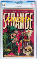 Golden Age (1938-1955):Horror, Strange Fantasy #5 (Farrell, 1953) CGC VG/FN 5.0 Off-whitepages....