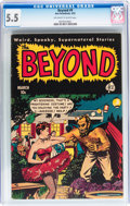 Golden Age (1938-1955):Horror, The Beyond #9 (Ace, 1952) CGC FN- 5.5 Off-white to white pages....