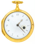 Timepieces:Pocket (pre 1900) , Robert Parker London Early Gilt Verge Fusee, circa 1810. ...