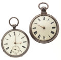 Timepieces:Pocket (pre 1900) , J. M. Cunningham, Burnley, Running Lever Fusee and A. Holistone,Liverpool, Verge Fusee For Parts. ... (Total: 2 Items)