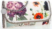 Stella McCartney Falabella Purple & Orange Floral Foldover Bag