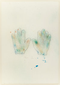 JIM DINE (American, b. 1935) Hands, 1970-76 Color lithograph 31-1/4 x 22-1/4 inches (79.4 x 56.5