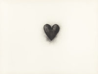 JIM DINE (American, b. 1935) Black Heart, 1971 Color lithograph 29-1/2 x 39-3/4 inches (74.9 x 10