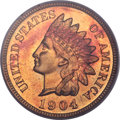 Proof Indian Cents, 1904 1C PR66 Red Cameo PCGS....