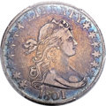 Early Half Dollars, 1801 50C O-101, R.3, VF25 PCGS. CAC....