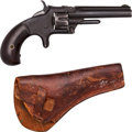 Handguns:Single Action Revolver, Smith & Wesson Model No. 1 Third Issue Revolver with Leather Holster....