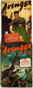 Books:Mystery & Detective Fiction, [Pulps]. Pair of Issues of The Avenger. New York: Street& Smith, 1940, 1941. Publisher's printed wrappers. Toned an...(Total: 2 Items)