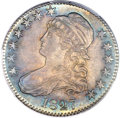 Bust Half Dollars, 1827 50C Square Base 2, O-126, R.2, MS64+ PCGS. CAC....