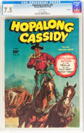 Golden Age (1938-1955):Western, Hopalong Cassidy #30 Hawkeye pedigree (Fawcett Publications, 1949)CGC VF- 7.5 White pages....
