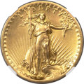 High Relief Double Eagles, 1907 $20 High Relief, Flat Rim -- Removed From Jewelry -- NGC Details. AU. ...