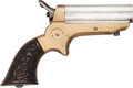 Handguns:Derringer, Palm, C. Sharps & Co. Model 1A Breech-Loading Four Shot PepperboxPistol....