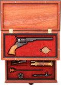 Handguns:Single Action Revolver, Cased Miniature Texas Paterson With Accessories....