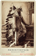 Photography:Cabinet Photos, Chief Rain-in-the-Face: D. F. Barry Cabinet Card....