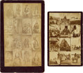 American Indian Art:Photographs, Composite Cabinet Photos of Indians. ... (Total: 2 Items)